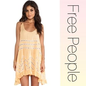 Free People Voile and Lace Trapeze tunic small